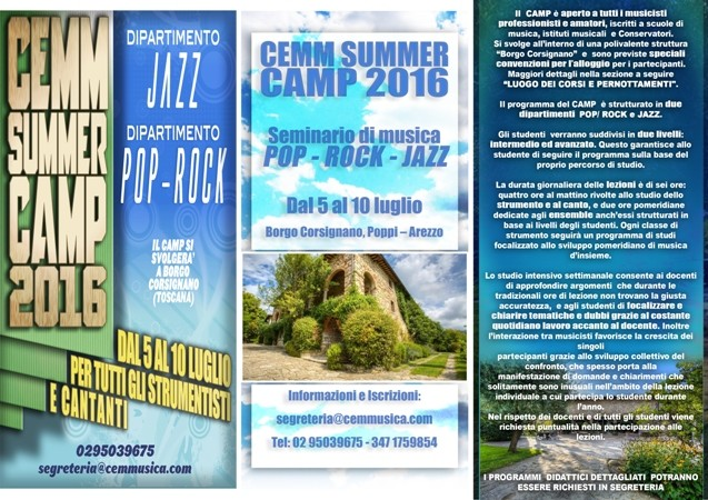 Brochure SUMMER CAMP CEMM Fronte2