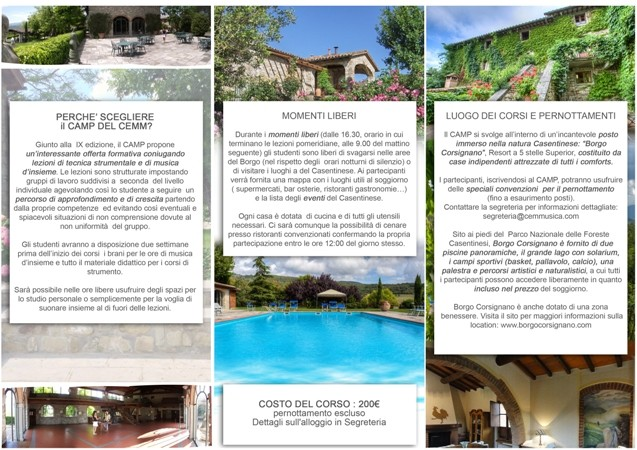 Brochure SUMMER CAMP CEMM interno2