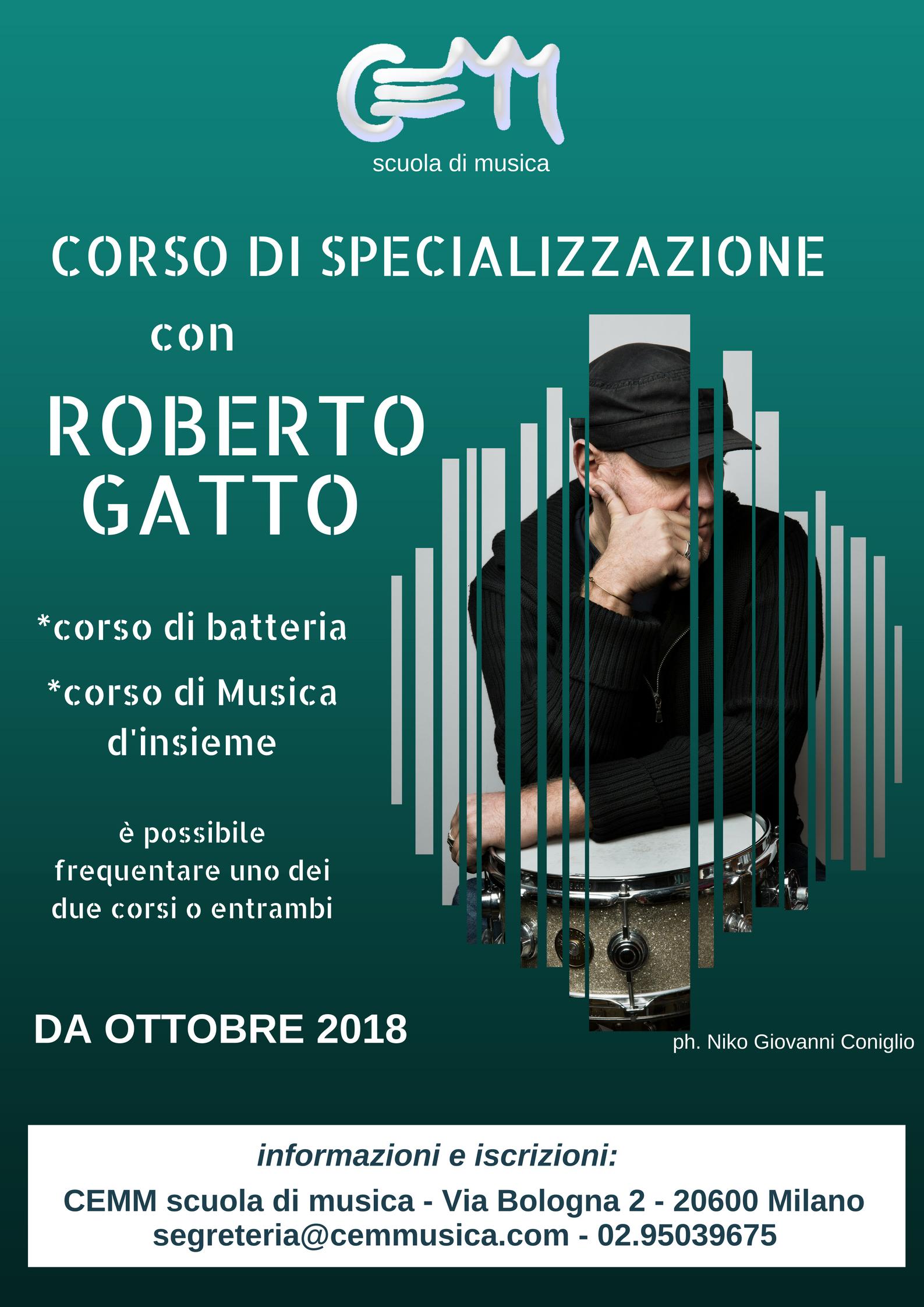 specializzazione batteria jazz  con Roberto Gatto