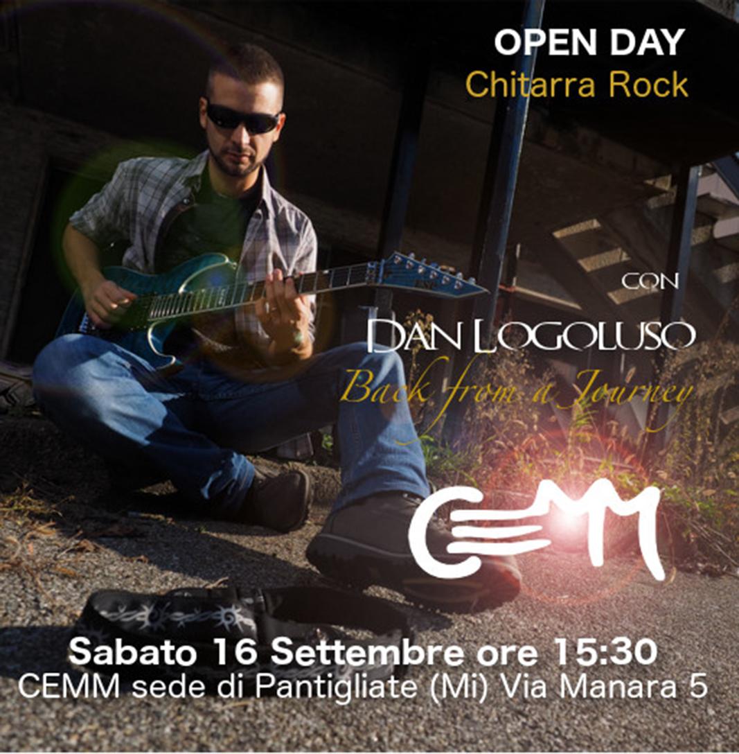 16 settembre: Open Day con il chitarrista Dan Logoluso