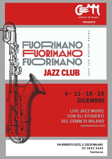 """Gli Allievi del CEMM al """"Fuorimano"""" Live Jazz Music"""