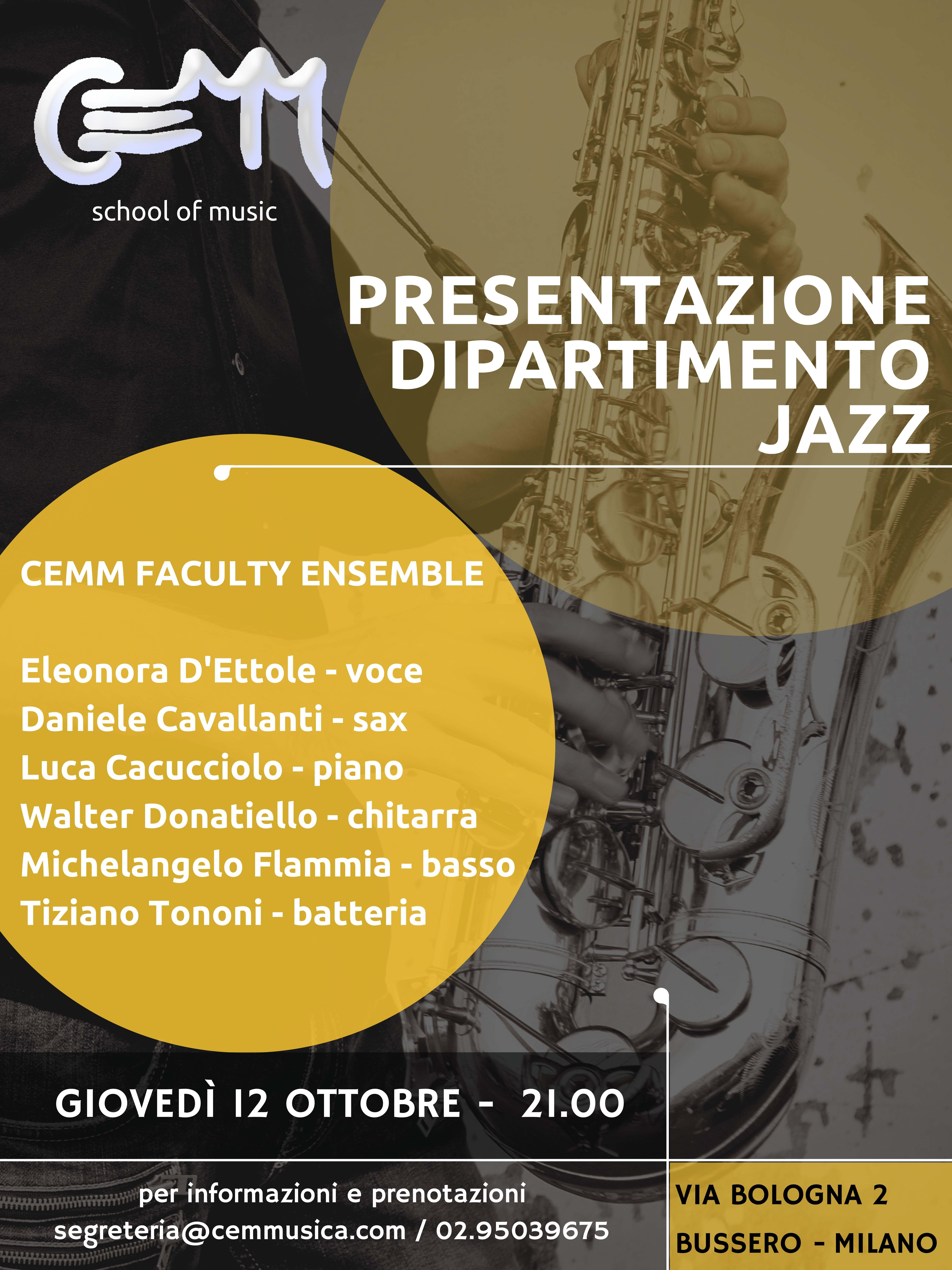 presentazione dipartimento Jazz