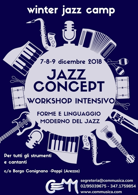 JAZZ CONCEPT: 7 8 9 dicembre 2018 / WINTER JAZZ WORKSHOP