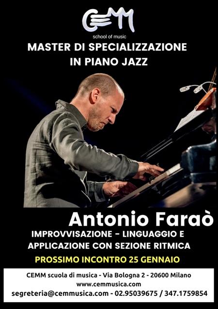 MASTER DI SPECIALIZZAZIONE IN PIANO JAZZ CON ANTONIO FARAO'